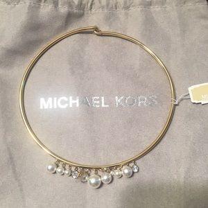 Michael Kors Choker Pearl & Diamond Necklace